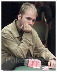 Daniel Negreanu thinking at the table