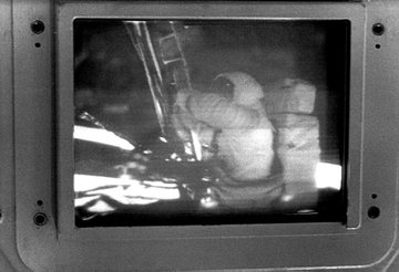a photo of the original transmission of the lunar landing