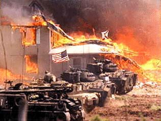 Tanks at the Waco Siege